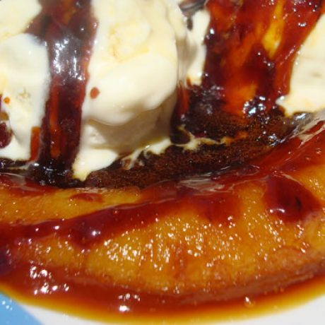 Banana Flambada Com Chocolate